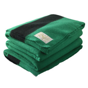 Woolrich Hudson's Bay 6-Point blanket - Green and black