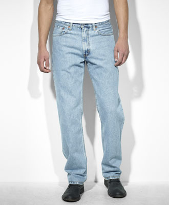 Levi Relaxed Fit 550 Jeans-Light Stonewash