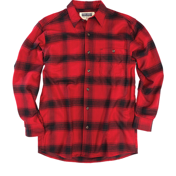 Flannel shirt - red and black
