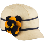 Stormy Kromer petal pusher benchwarmer - navy and gold