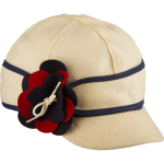 Stormy Kromer petal pusher benchwarmer - nany, red, and white