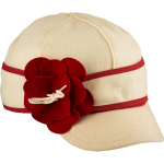 Stormy Kromer petal pusher benchwarmer cap- red and white