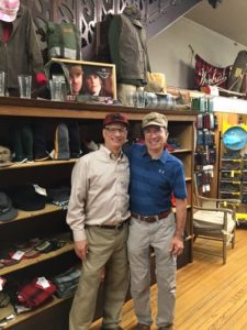 Mike and Bob Jacquart, owner of Stormy Kromer
