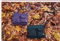 Haiku handbags - purple and teal